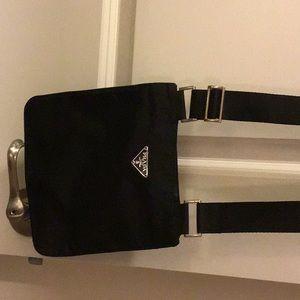 Prada Tessuto Nylon Messenger/Crossbody Bag
